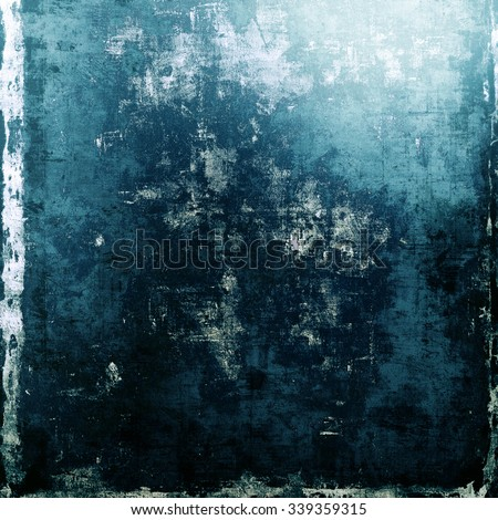 Designed background in grunge style. With different color patterns: blue; cyan; black; white - stock photo