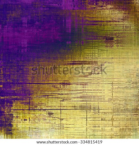 Designed background in grunge style. With different color patterns: yellow (beige); brown; purple (violet); blue - stock photo