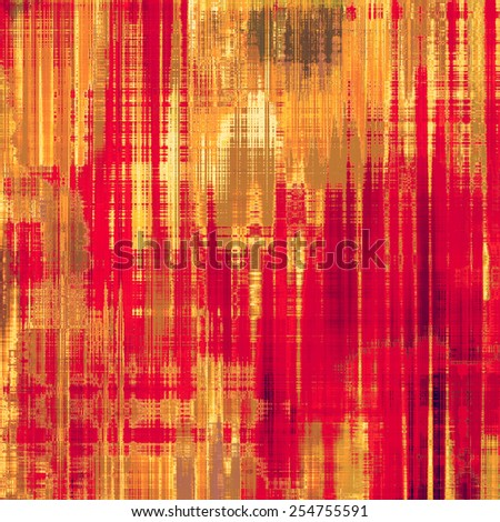Designed background in grunge style. With different color patterns: yellow (beige); brown; red (orange); pink - stock photo