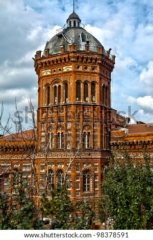Designed by the Ottoman Greek architect Konstantinos Dimadis, the building was erected between 1881 and 1883, istanbul turkey HDR photo