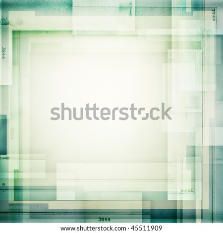 designed collage of film strips, may use as a background - stock photo