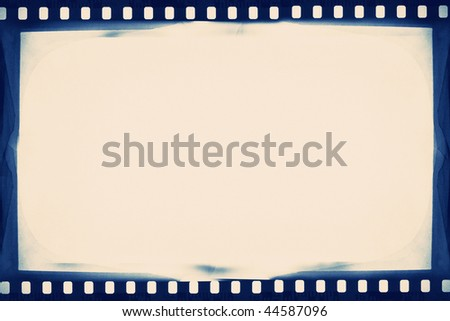 designed empty film strip background - stock photo
