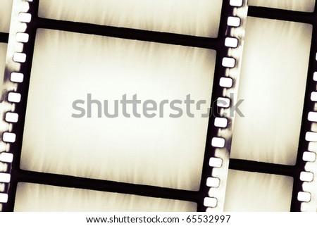 Designed empty film strip background - stock photo