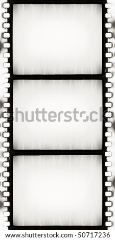 designed empty film strip with added grain - stock photo