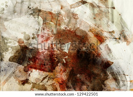 designed grunge paper texture - artistic painting background - stock photo