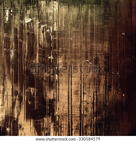 Designed grunge texture or background. With different color patterns: yellow (beige); brown; black; gray - stock photo