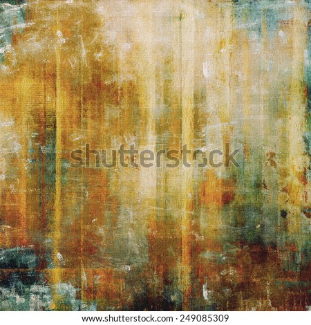 Designed grunge texture or background. With different color patterns: yellow (beige); brown; gray; green; cyan - stock photo