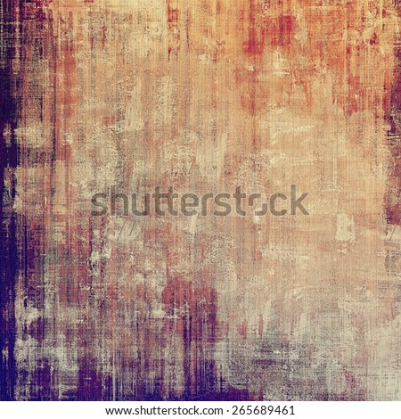 Designed grunge texture or background. With different color patterns: yellow (beige); brown; purple (violet); red (orange) - stock photo