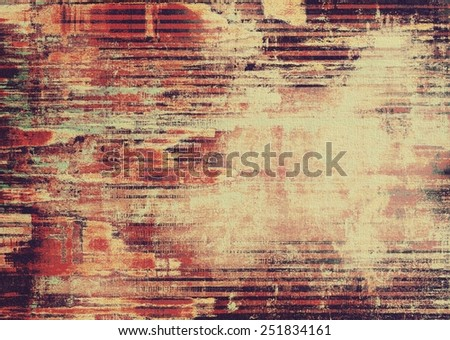Designed grunge texture or background. With different color patterns: yellow (beige); brown; red (orange); black - stock photo