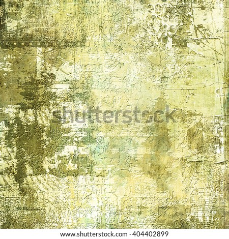 Designed grunge texture or retro background. With different color patterns: yellow; brown; green