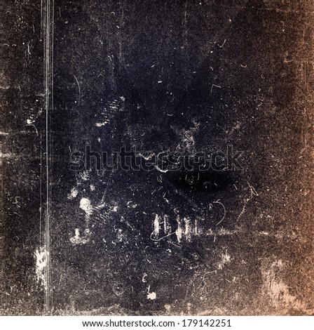 Designed medium format film background with heavy grain, dust and scratches  - stock photo