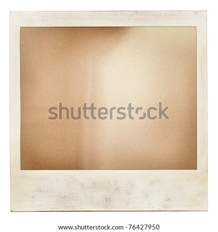 Designed retro instant film frame with abstract filling. Grain added as vintage effect. - stock photo