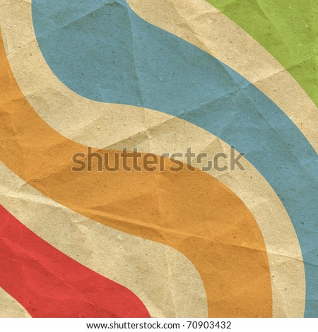 Designed retro paper background - stock photo