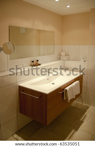 Designer bathroom - stock photo