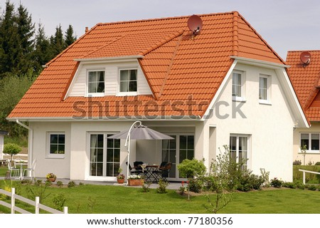 Designer House - stock photo