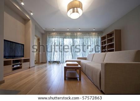 Designer living room - stock photo