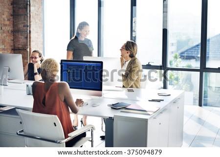 Designer Meeting Colleague Teamwork Occupation Concept - stock photo
