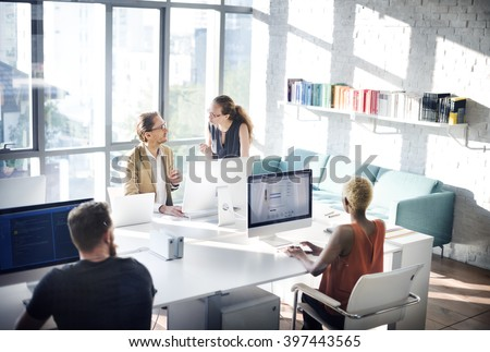 Designer Meeting Colleague Teamwork Occupation Concept - stock photo