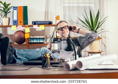 Designer working at the office  - stock photo