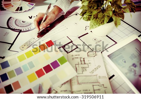 Designer Working Project Planning Creative Concept - stock photo
