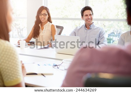Designers Meeting To Discuss New Ideas - stock photo