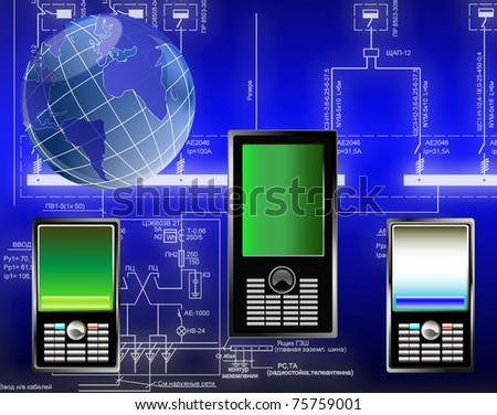 Designing of the newest computer technologies - stock photo