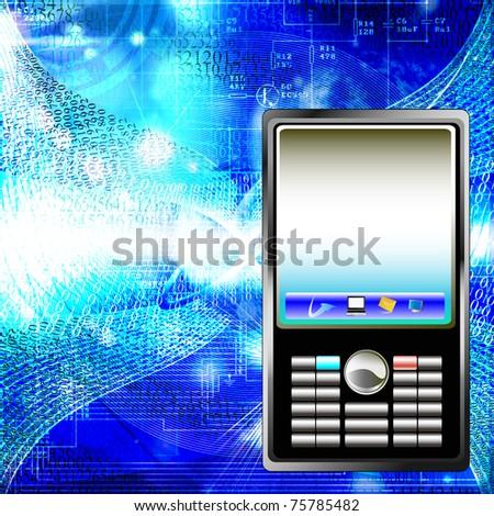 Designing of the newest global telecommunication technologies - stock photo