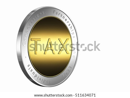 Designing tax coin 3d rendering.