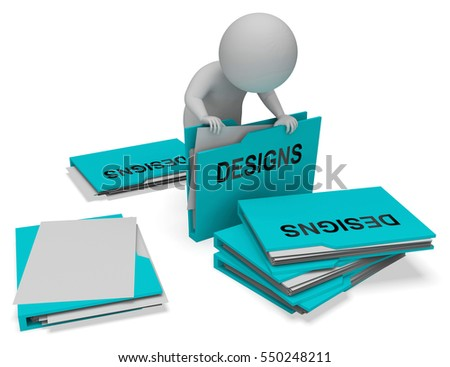 Designs Character And Folders Meaning Files Conception 3d Rendering