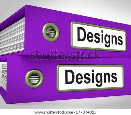 Designs Folders Meaning Style Of Product Or Publication