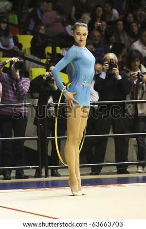 DESIO, ITALY - OCTOBER 23: Alina Maksymenko during the A1 Italian Championship, First round on October 23 2010 - Desio, Italy. - stock photo