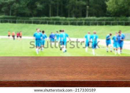 desk and sport  - stock photo