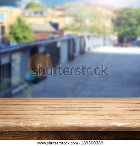desk and street  - stock photo