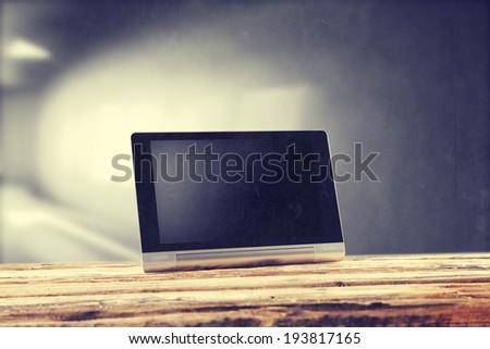desk and tablet  - stock photo