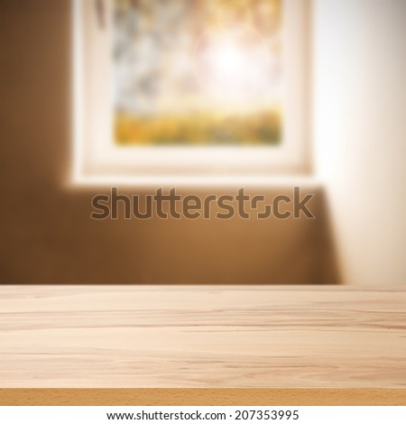 desk and window  - stock photo