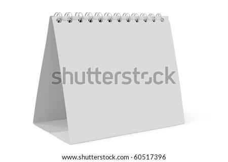 desk calendar on white background - stock photo