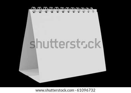 desk calendar on white background - stock photo