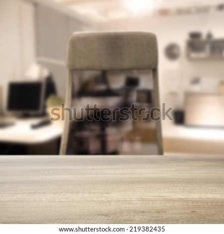 desk chair and interior of office  - stock photo