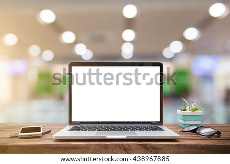 Desk Hospital Medicine doctors working table. Laptop, papers, table at physician's office. Healthcare and medical concept. - stock photo