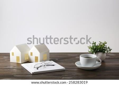 Desk image - stock photo