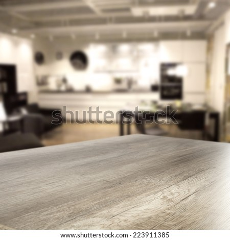 desk in home  - stock photo