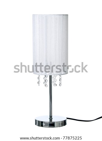 Desk lamp, isolated on a pure white background - stock photo