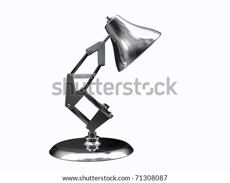 desk lamp isolated on white background