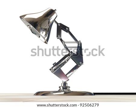 desk lamp isolated on white background - stock photo