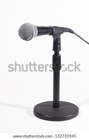 Desk Microphone over white background - stock photo