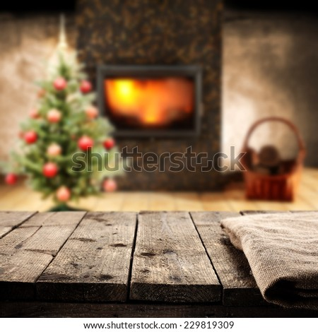 desk napkin and tree  - stock photo