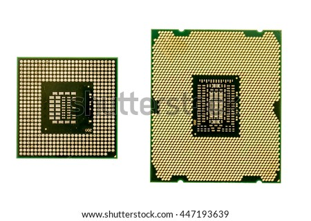 Desktop and laptop cpu on an isolated background - stock photo