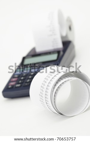 Desktop Calculator paper tape