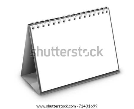 desktop calendar on a white background - stock photo