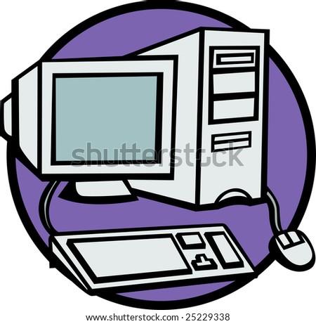 desktop computer - stock photo
